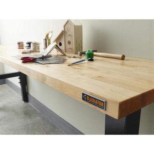 8' Adjustable Height Hardwood Workbench