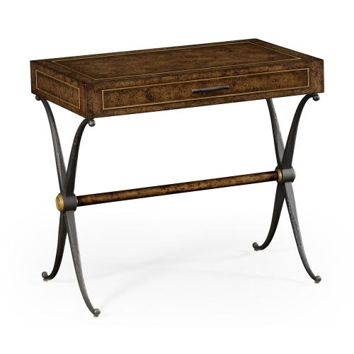 Hammered Iron Side Table with Drawer