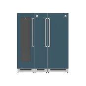 "72"" Wine Cellar (L), Column Freezer and Refrigerator ® Ensemble Refrigeration Suite - Pacific-fog"
