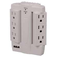 6 swivel outlet surge protector