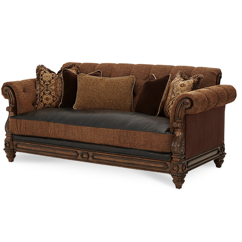 Leather/Fabric Sofa - Opt1