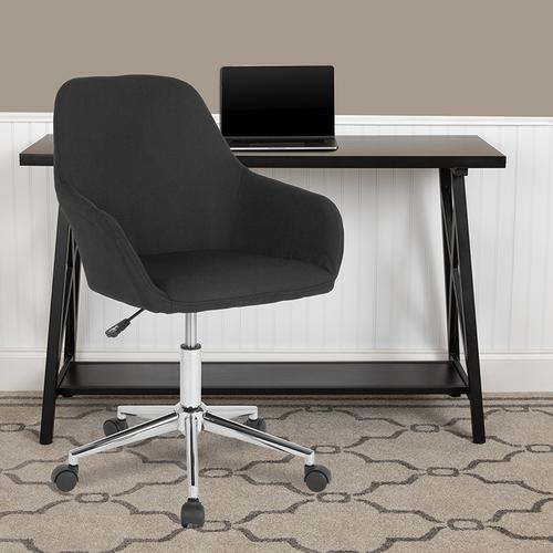 Gallery - Cortana Home and Office Mid-Back Chair in Black Fabric