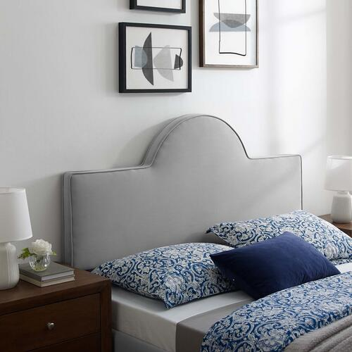 Dawn King/California King Performance Velvet Headboard in Light Gray