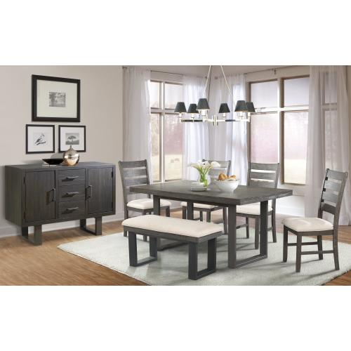 Sawyer Dining Set - Dining Table, Bench, And 4 Side Chairs