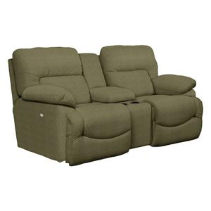 Asher Power La-Z-Time® Loveseat with Middle Console