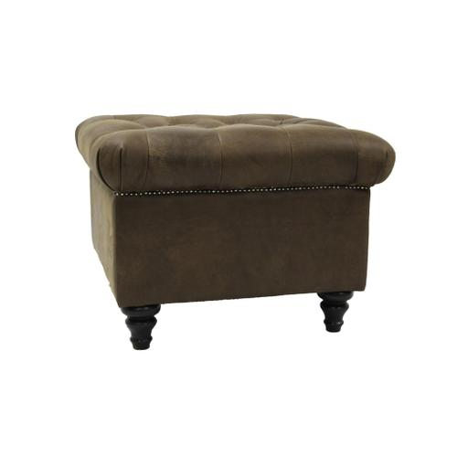 L.M.T. Rustic and Western Imports - Sitara Ottoman W/Woodland Spice Leather