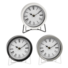 Mod Enamel Desk Clock (3 pc. ppk.)