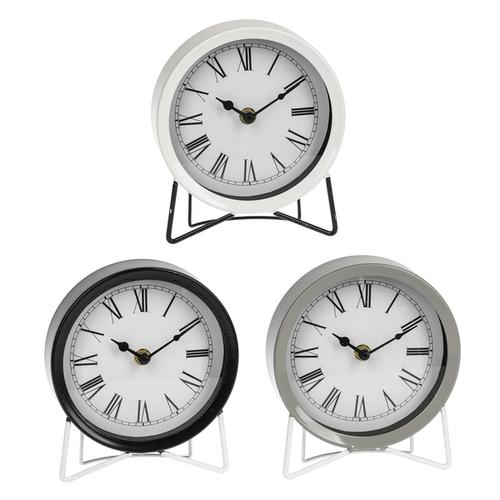 Mod Enamel Desk Clock (3 pc. ppk.)
