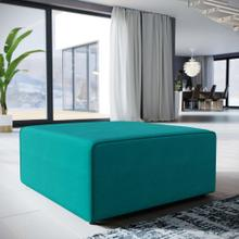 See Details - Mingle Fabric Ottoman in Teal