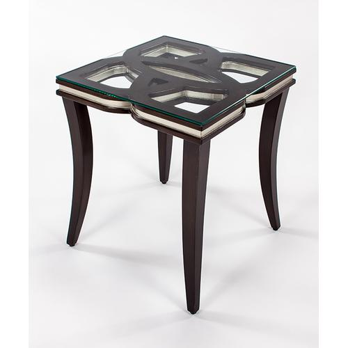 """Artmax - End Table with Glass 24x24x26"""""""