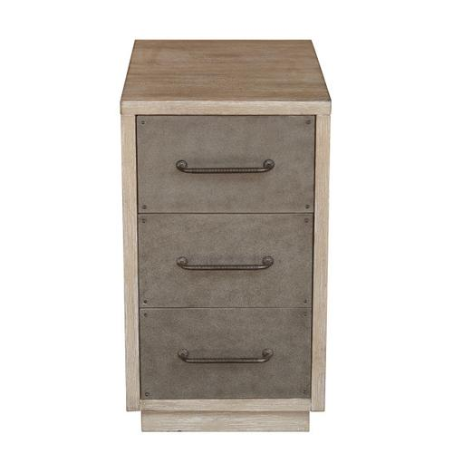 Industrial Style Three Drawer Accent Chairside Chest