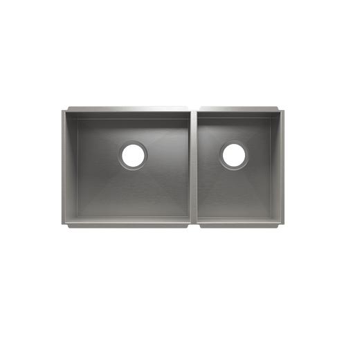 """UrbanEdge® 003658 - undermount stainless steel Kitchen sink , 18"""" × 16"""" × 10""""  12"""" × 16"""" × 8"""""""