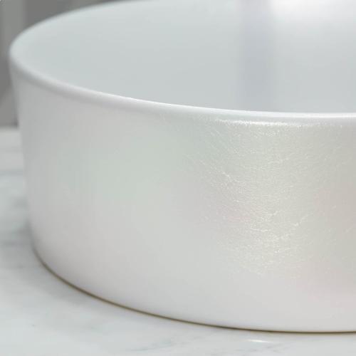 Dxv - Pop Round Vessel Bathroom Sink - Pearlescent White