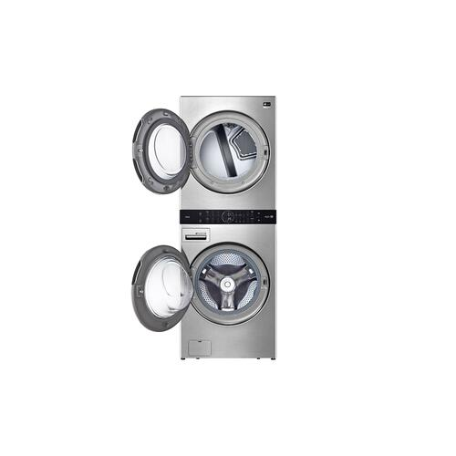LG - LG STUDIO Single Unit Front Load WashTower™ with Center Control™ 5.0 cu. ft. Washer and 7.4 cu. ft. Gas Dryer
