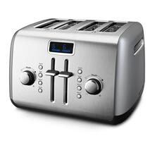KitchenAid® 4-Slice Toaster with Manual High-Lift Lever and Digital Display - Contour Silver