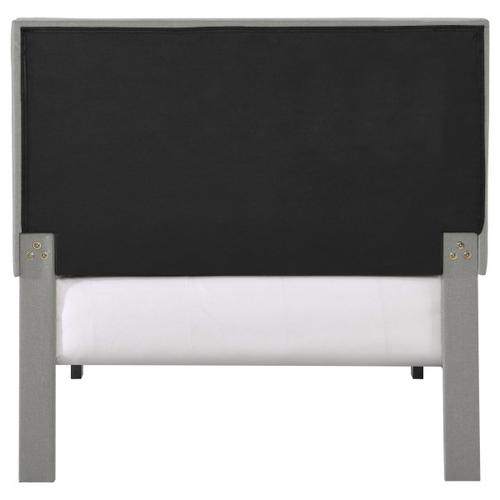 Accentrics Home - Mid-Century Modern Button Tufted Twin-Sized Platform Bed in Gray