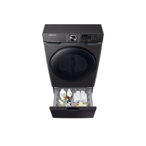 Samsung Canada - 7.5 cu.ft. Smart Electric Dryer with Steam Sanitize+ in Black Stainless Steel