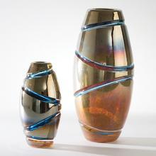 Cut Vase-Blue-Sm