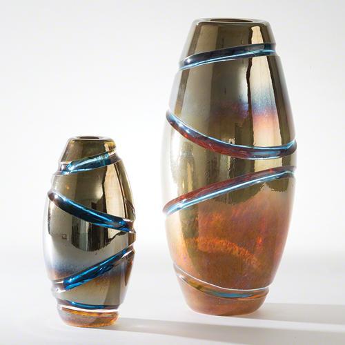 Cut Vase-Blue-Lg