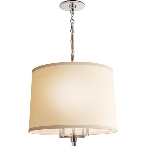 Visual Comfort BBL5030SS-L Barbara Barry Westport 4 Light 23 inch Soft Silver Hanging Shade Ceiling Light