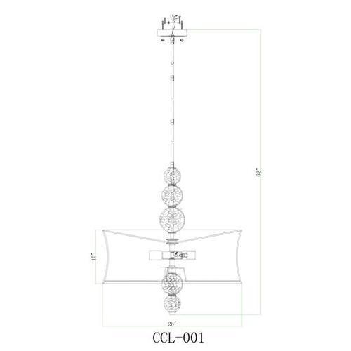 """Circular CCL-001 27.5""""H x 26""""W x 26""""D"""