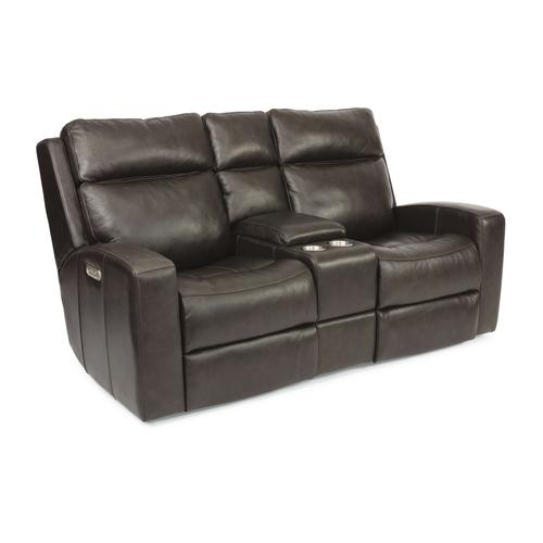 Flexsteel - Cody Power Reclining Loveseat with Console and Power Headrests