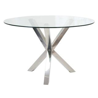 See Details - Redondo Glass Dining Table