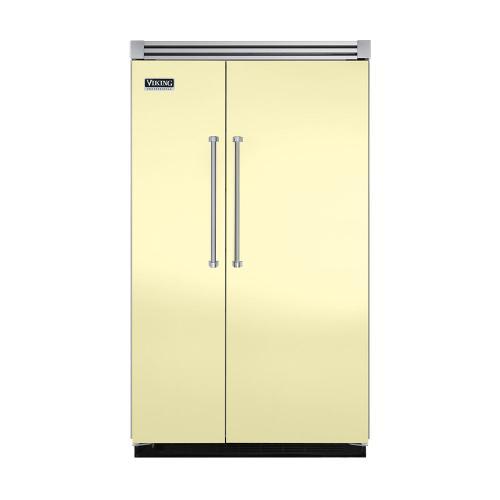 "Viking - Lemonade 48"" Quiet Cool™ Side-by-Side Refrigerator/Freezer - VISB Tru-Flush™ (48"" wide)"