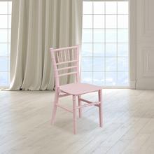 View Product - Kids Pink Resin Chiavari Chair