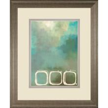 """""""Retro In Aqua And Khaki Il"""" By Laurie Maitland Framed Print Wall Art"""