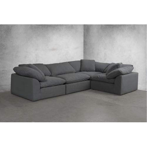 Cloud Puff Slipcovered Modular Sectional Sofa - 391094 (4 Piece)