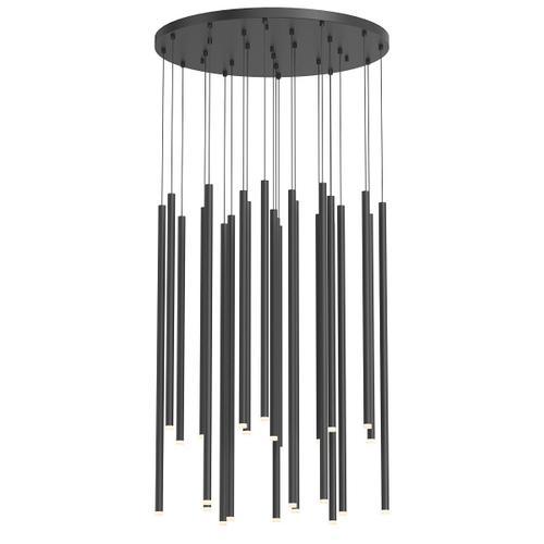 Sonneman - A Way of Light - Light Chimes LED Pendant [Size=24-Light Assorted, Color/Finish=Satin Black]