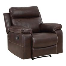 See Details - Bryson Recliner With Espresso Faux Leather