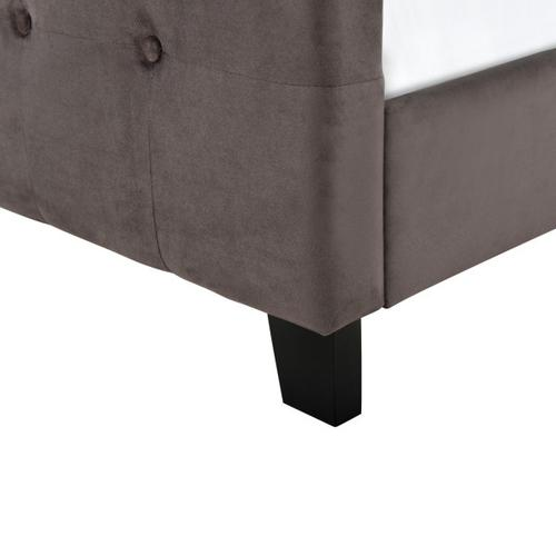 Accentrics Home - Queen Modern Wing Bed in Mink