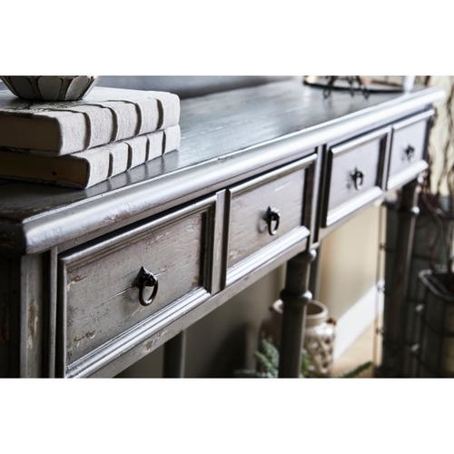 Two Drawer Tall Hall Console Table in Farmhouse Grey