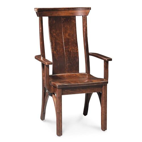 Simply Amish - B&O Railroad Trestle Bridge Arm Chair, Wood Seat