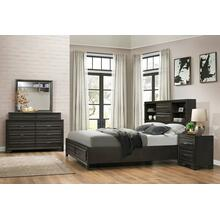 Loiret Antique Grey Finish Wood Bed Room Set, Queen & King Storage Bed, Dresser, Mirror, Night Stand, King