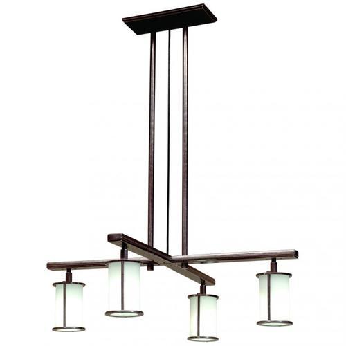 Rocky Mountain Hardware - Cross Arm Chandelier - Round Glass - C450 Bronze Dark Lustre