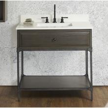 """See Details - Toledo 36"""" Open Shelf Vanity"""