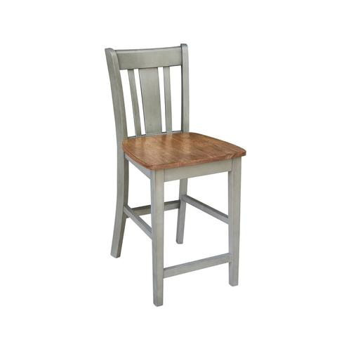 San Remo Stool in Hickory Stone