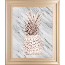 Rose Gold Pineapple On Gray Marble By Nature Magick