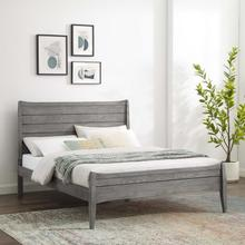 Georgia Queen Wood Platform Bed in Gray