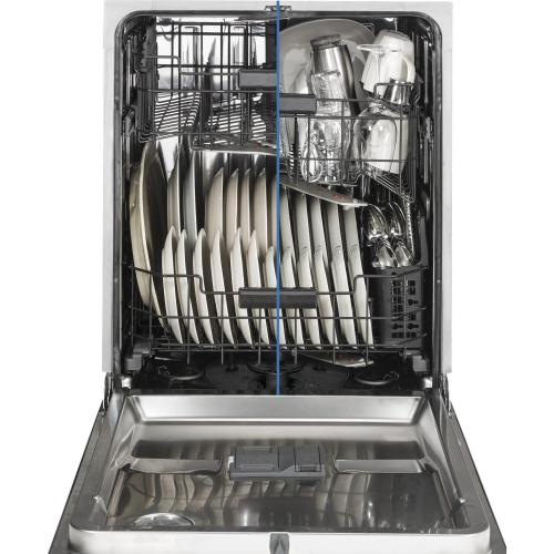 Gallery - GE Café Series Stainless Interior Built-In Dishwasher with Hidden Controls