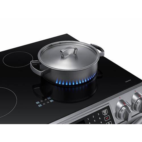 5.8 cu. ft. Slide-In Induction Range with Virtual Flame™ in Stainless Steel
