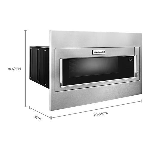 1000 Watt Built-In Low Profile Microwave with Standard Trim Kit - Stainless Steel
