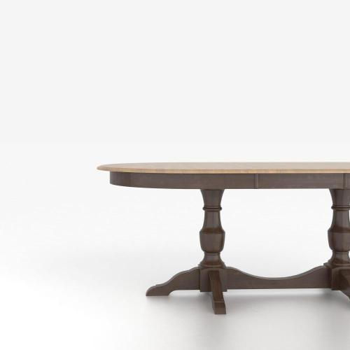 Oval table with base