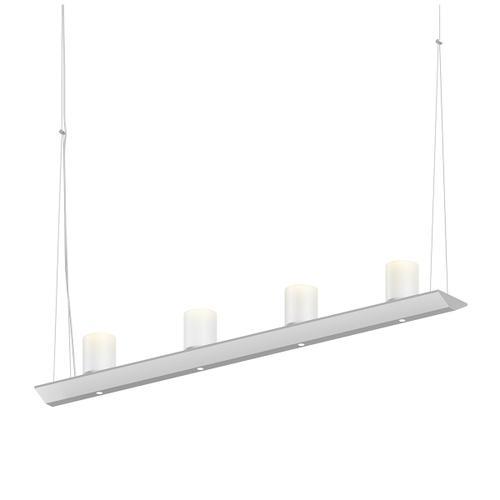 "Sonneman - A Way of Light - Votives LED Bar Pendant [Size=3', Color/Finish=Satin White, Shade Size=3"" height x 2.25"" diameter]"