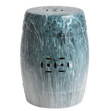 See Details - Gilroy Marble Garden Stool - Blue