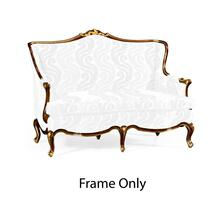 Two seater sofa with gilded carving, Frame only