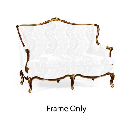 Two Seater Sofa for Gilded Carving, Frame Only